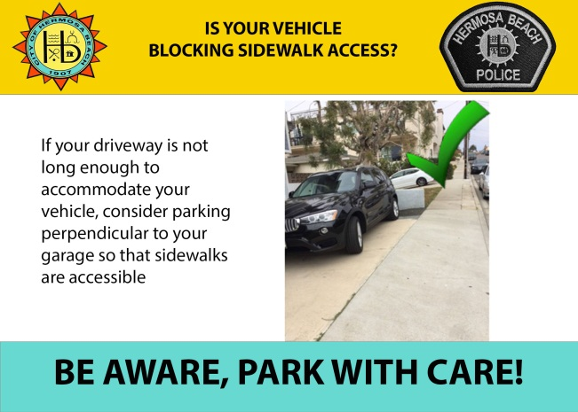 City of Hermosa Beach : Parking and Sidewalk Access Reminders