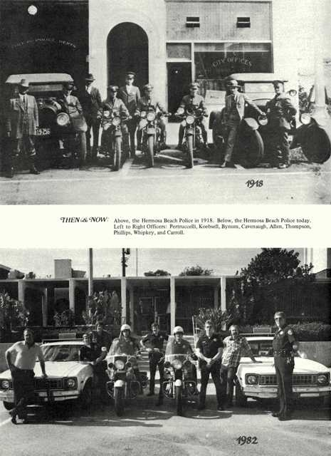 Hermosa Beach Police Department - 1918 and 1982 pictures