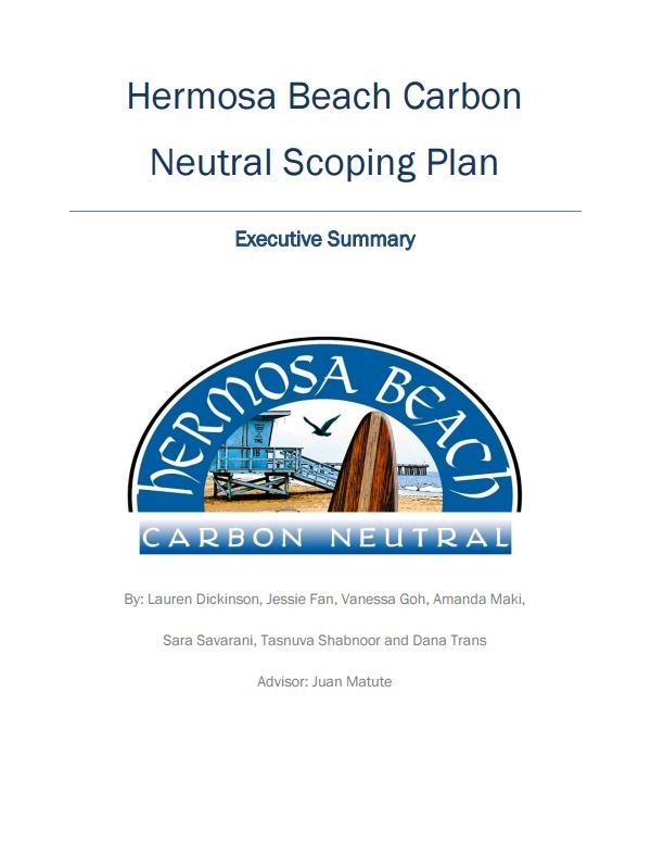 Hermosa Beach Carbon Neutral Scoping Plan