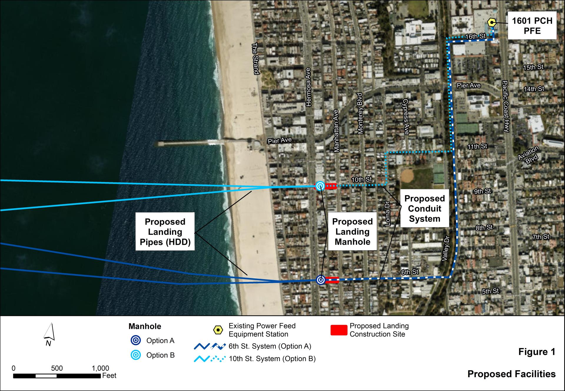 RTI Undersea Cable Hermosa Beach Proposed Map