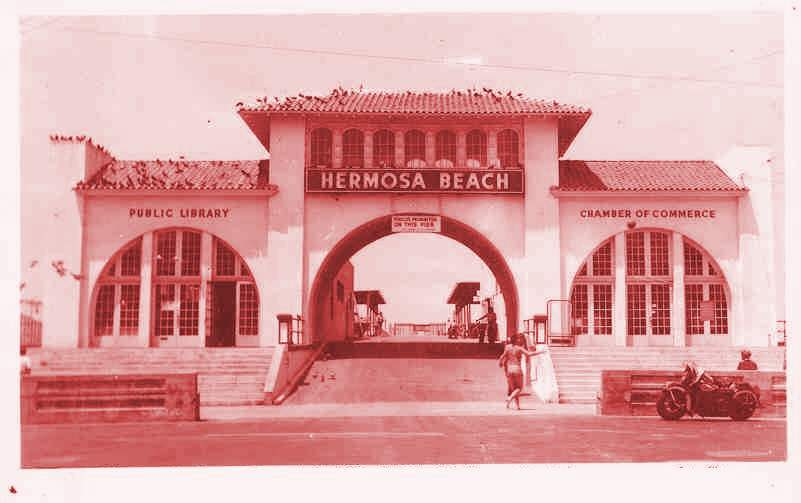Old entrance to Hermosa Pier picture