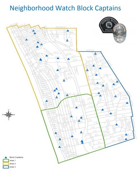 Hermosa Beach Neighborhood Watch map thumbnail
