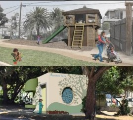Park restroom renderings - Fort Lots-o-Fun and Sea View Parkette