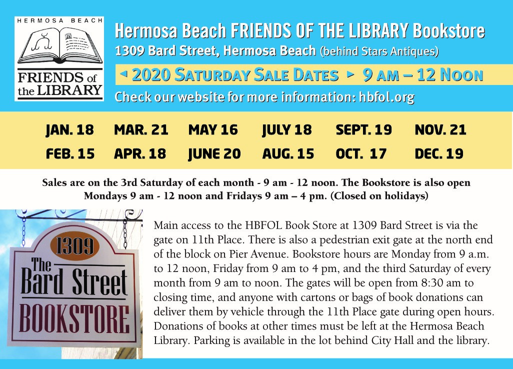 Friends of the Library 2020 Schedule