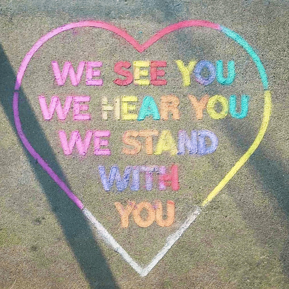 We see you. We hear you. We stand with you